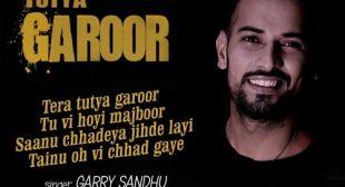 Tutya Garoor Song by Shah Ali