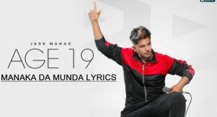 Manaka Da Munda Lyrics – Jass Manak