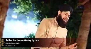 Taiba Ke Jaane Walay Lyrics : Naat-e-Paak – Bulbul-e-Bagh-e-Madina