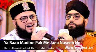 Ya Raab Madine Pak Me Jana Naseeb Ho Lyrics : Naat-e-Paak – Bulbul-e-Bagh-e-Madina