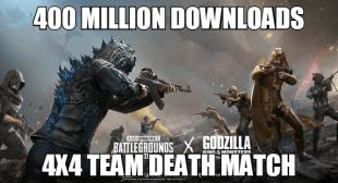 PUBG Mobile 4X4 Team DeathMatch Update With 400 Million Downloads