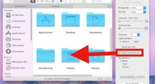 How to Unhide & Access the Hidden Library Folder in your Mac