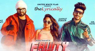 Fruity Lagdi Hai Lyrics – Ramji Gulati | Jannat Zubair & Mr Faisu | theLyrically Lyrics