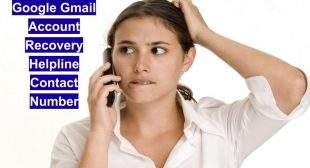 Google Gmail Account Recovery Helpline Number