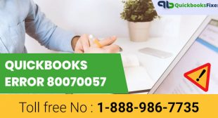 Call QuickBooks Error 80070057: 1-888-986-7735