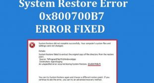 How to Fix 0x800700b7 Error Code in Windows 10?