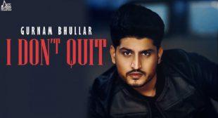 Lyrics of I Don't Quit Song