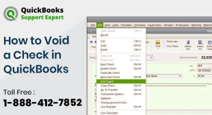 How to Void a Check in QuickBooks? | +1-888-412-7852