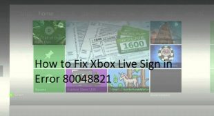 How to Fix Xbox Live Sign in Error 80048821 – office.com/setup