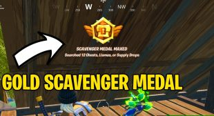 How to Get Gold Scavenger Medals in Fortnite