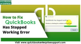 Fix QuickBooks has Stopped Working or Not Responding Problem