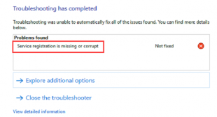 """How to Fix """"Service Registration Is Corrupt or Missing"""" Error on Windows 10"""