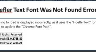 How to Fix Hoefler Text Font Was Not Found Error