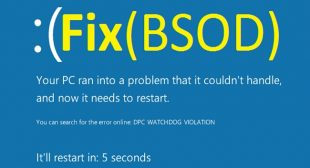 Solved: SPIN_LOCK_ALREADY_OWNED BSOD Error on Windows 10
