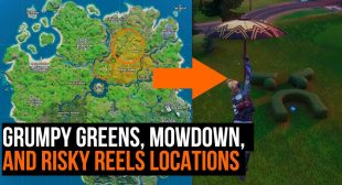 Fortnite Season 2: Visit Grumpy Greens, Mowdown, and Risky Reels