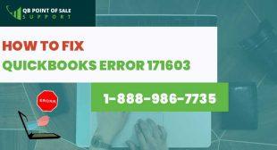 QuickBooks error 171603 Support – Call now! @ 1-888-986-7735