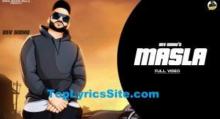 Masla Lyrics – Dev Sidhu , Rangrez Sidhu – TopLyricsSite.com