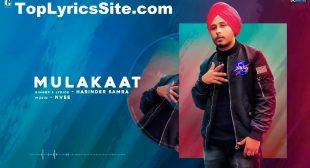 Mulakaat Lyrics – Harinder Samra – TopLyricsSite.com