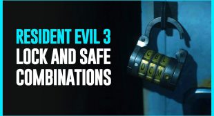 All Safe Codes and Locker Combinations in the Game in Resident Evil 3