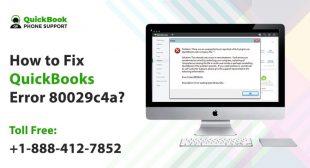 How to Fix QuickBooks Error 80029c4a?+1-888-412-7852