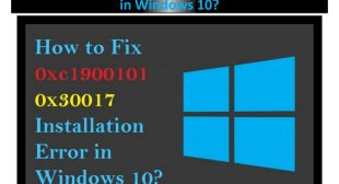 Fix: 0xc1900101 0x30017 Error Installation Windows 10