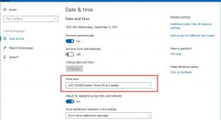 How to Change the Time Zone on Windows 10