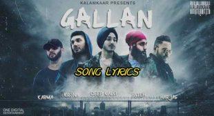 GALLAN LYRICS – Deep Kalsi   Punjabi Rap   Lyrics Lover