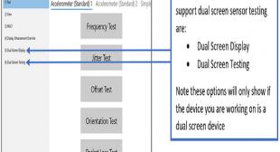 How to Test the Dual Screen Device Using SensorExplorer 2.0