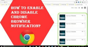 How to Enable and Disable Chrome Browser Notification?