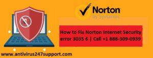 How to Fix Norton Internet Security error 3035 6   Call +1 888-309-0939